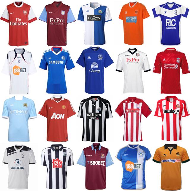Inghilterra, Premier League pronta al via della stagione 2010/11: ecco le maglie - Ama la Maglia